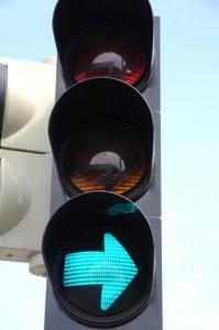 belastet vejkryds lettet
